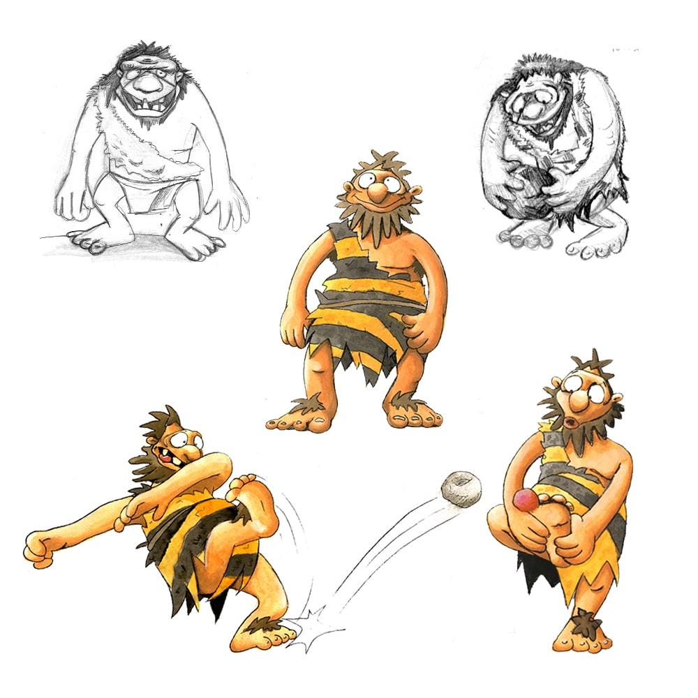 Character Nr. 1, Skizzen
