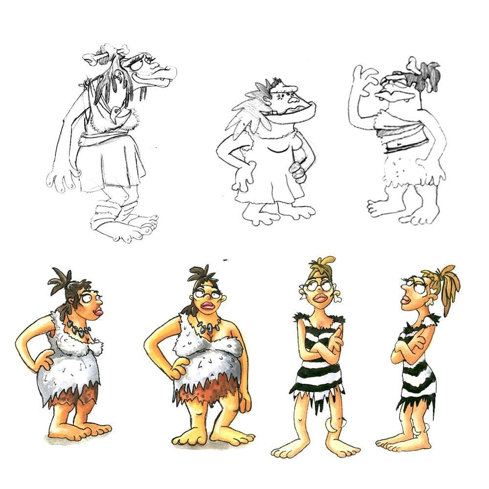 Character Frauen, Skizzen