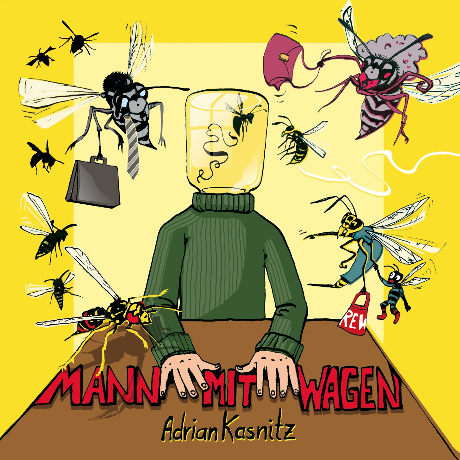 """""""Mann mit Wagen"""" von Adrian Kasnitz"""